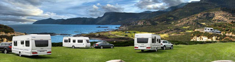 3 Caravans with beautiful scenery